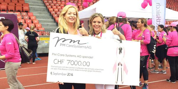 PM Care unterstützt Pink Ribbon Schweiz