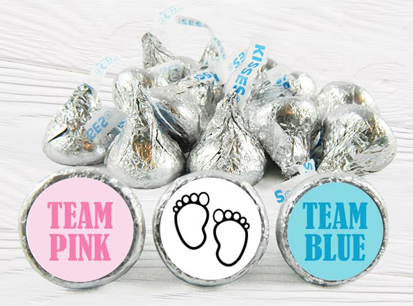 Gender Reveal Kiss Stickers