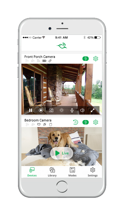 View love anytime with Arlo camera app