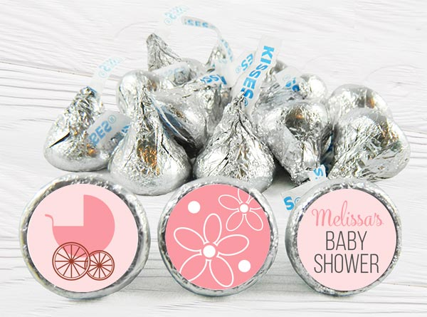 Girl Baby Shower Kiss Stickers
