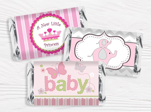 Girl Baby Shower Mini Wrappers
