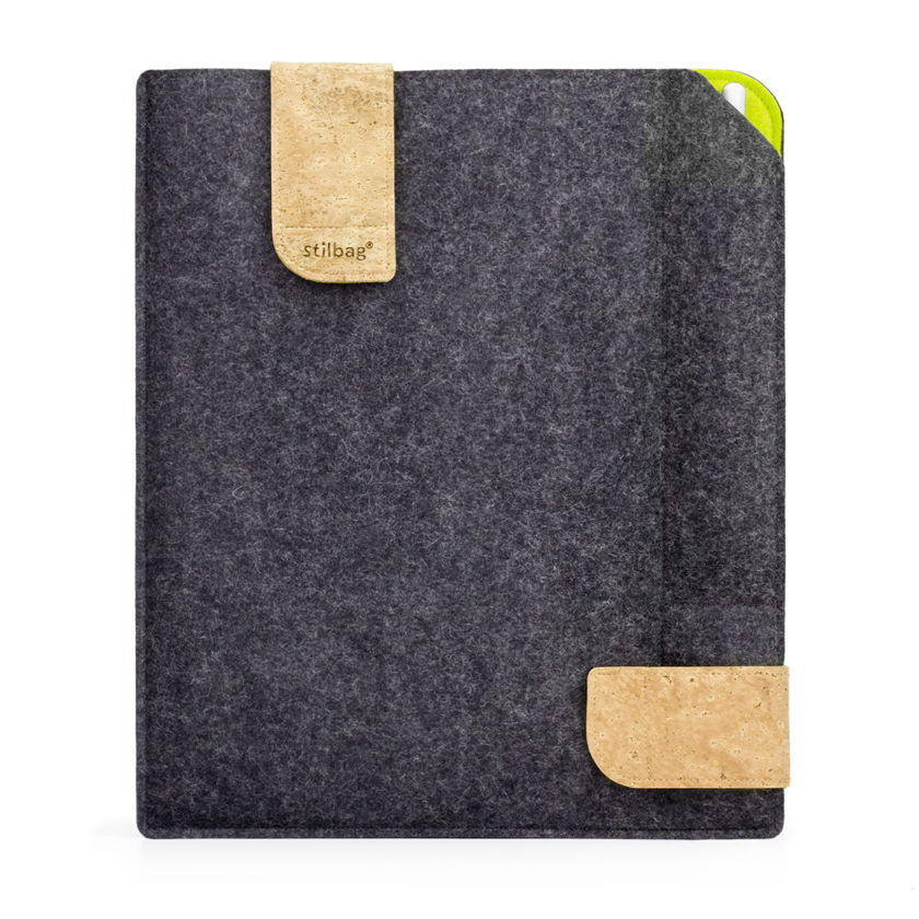stilbag case for reMarkable made of felt | anthracite - apple green