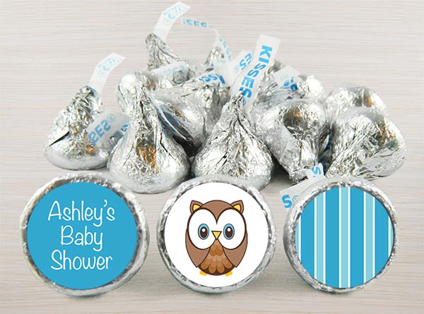 Boy Baby Shower Kiss Stickers