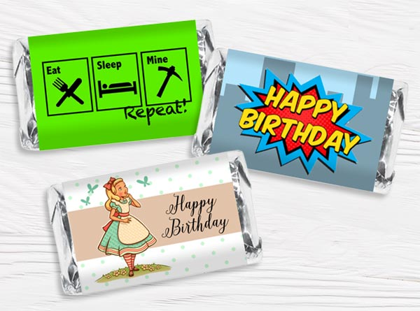 Personalized Birthday Mini Bar Wrappers
