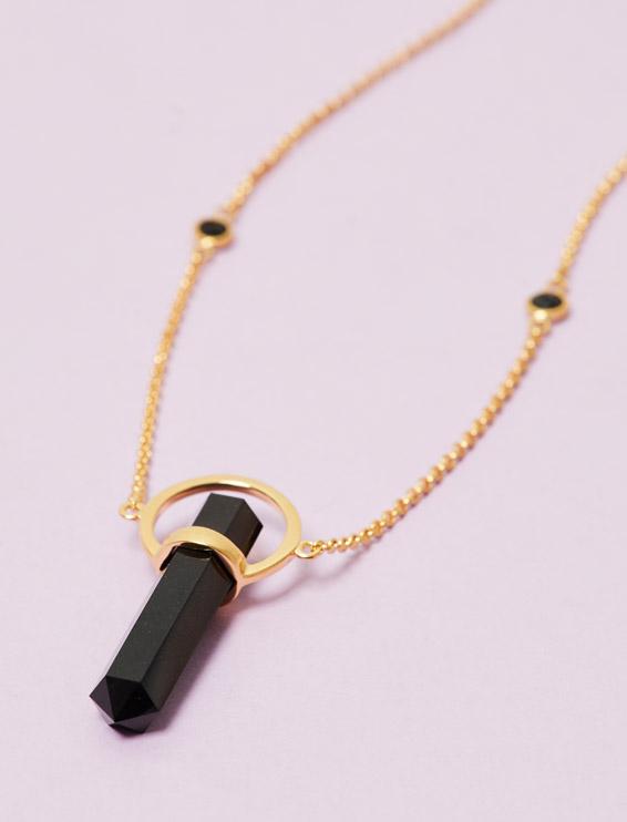 Prisma Halskette Turmalin von Soul Zen