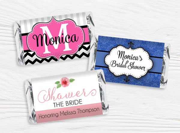 Bridal Shower Mini Candy Bar Wrappers