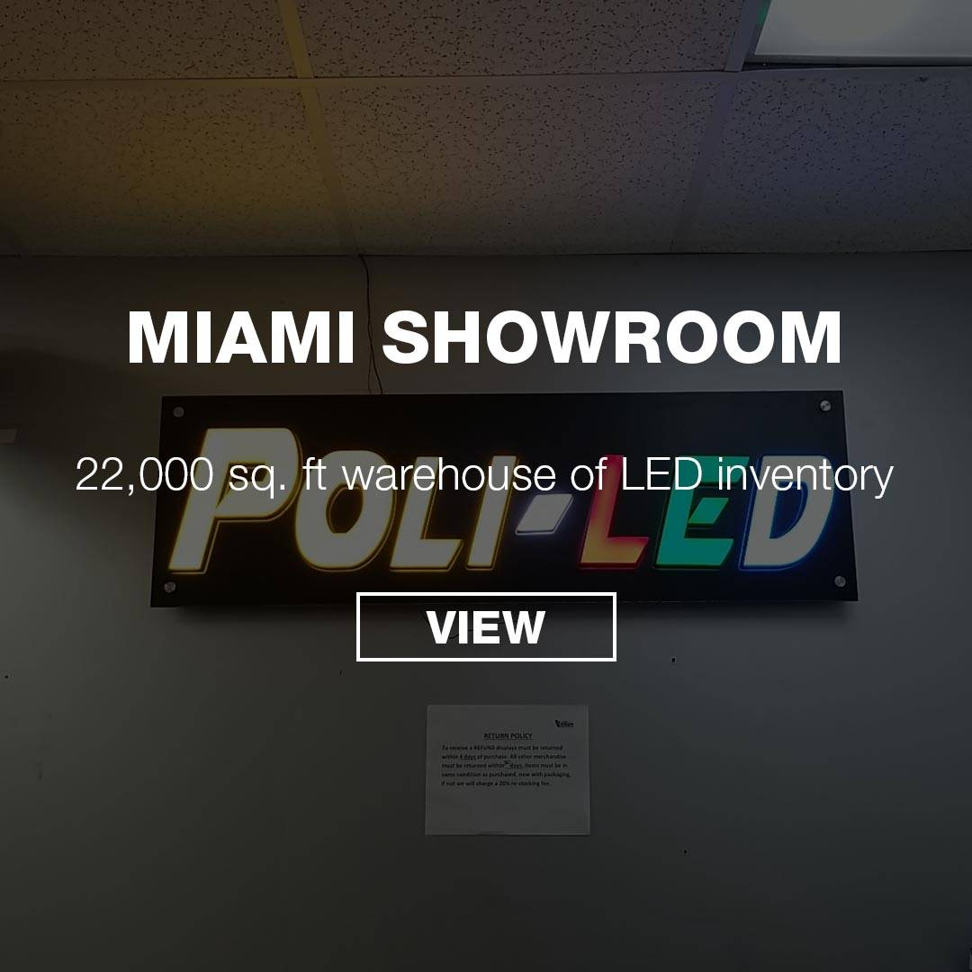 MIAMI LED LIGHTING SHOWROOM