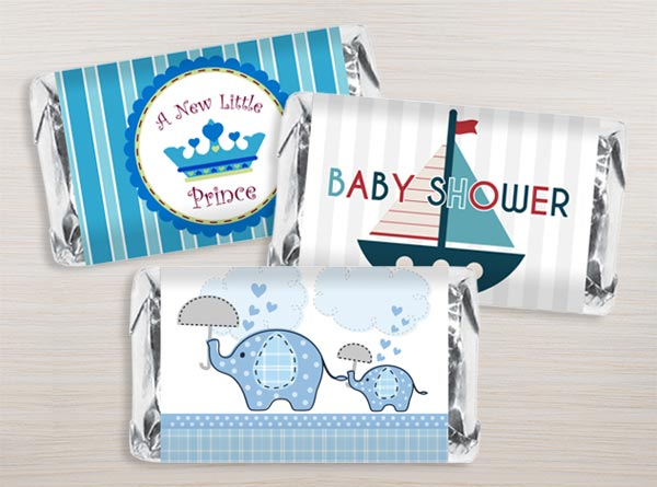 Boy Baby Shower Mini Bar Wrappers