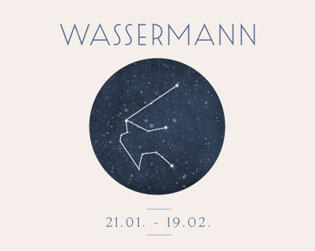 Sternbild Sternzeichen Wassermann