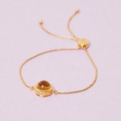 Goldenes Citrin Armband