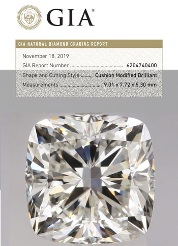 Cushion Modified Brilliant Diamond GIA Certified