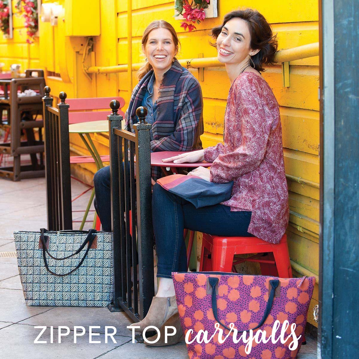 zipper top tote bags for fall
