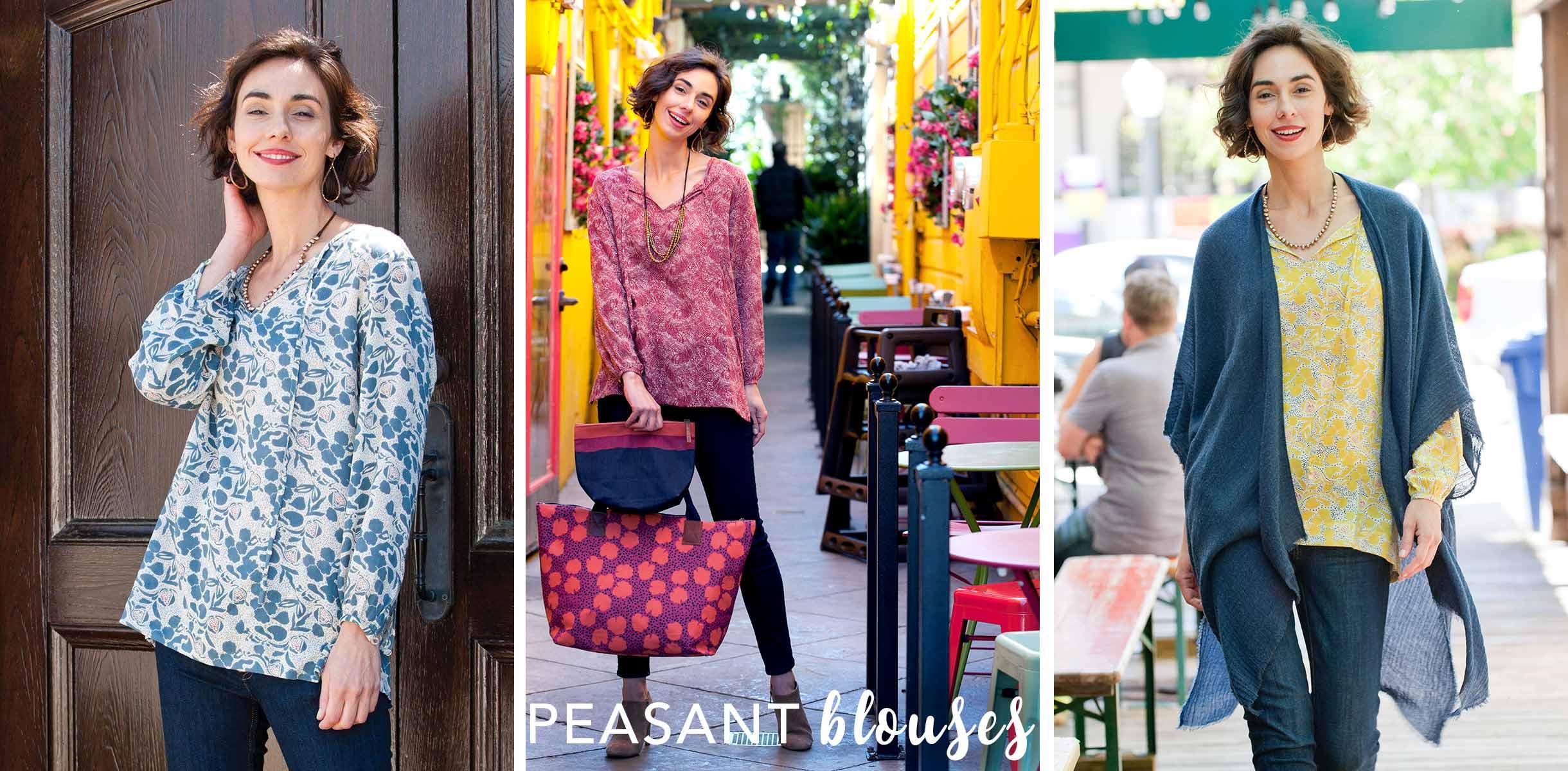 women's shirt peasant blouse