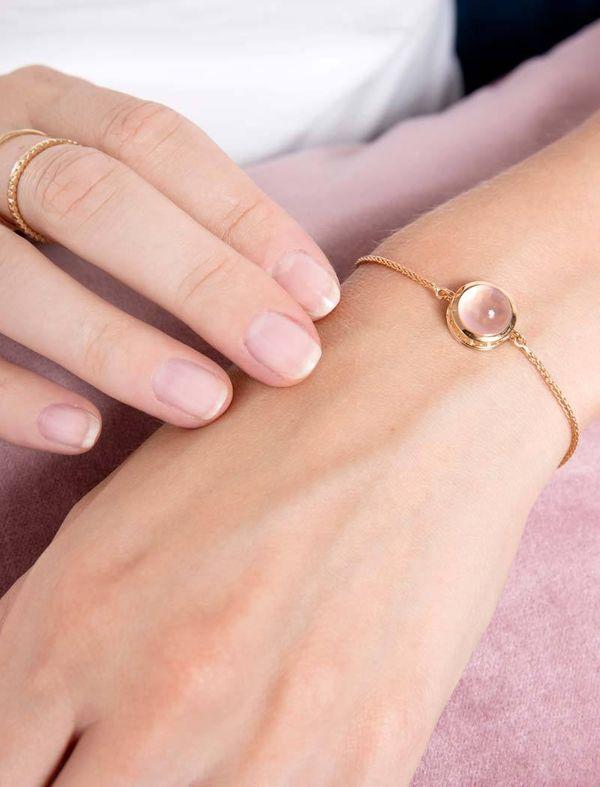 Rosenquarz Armband
