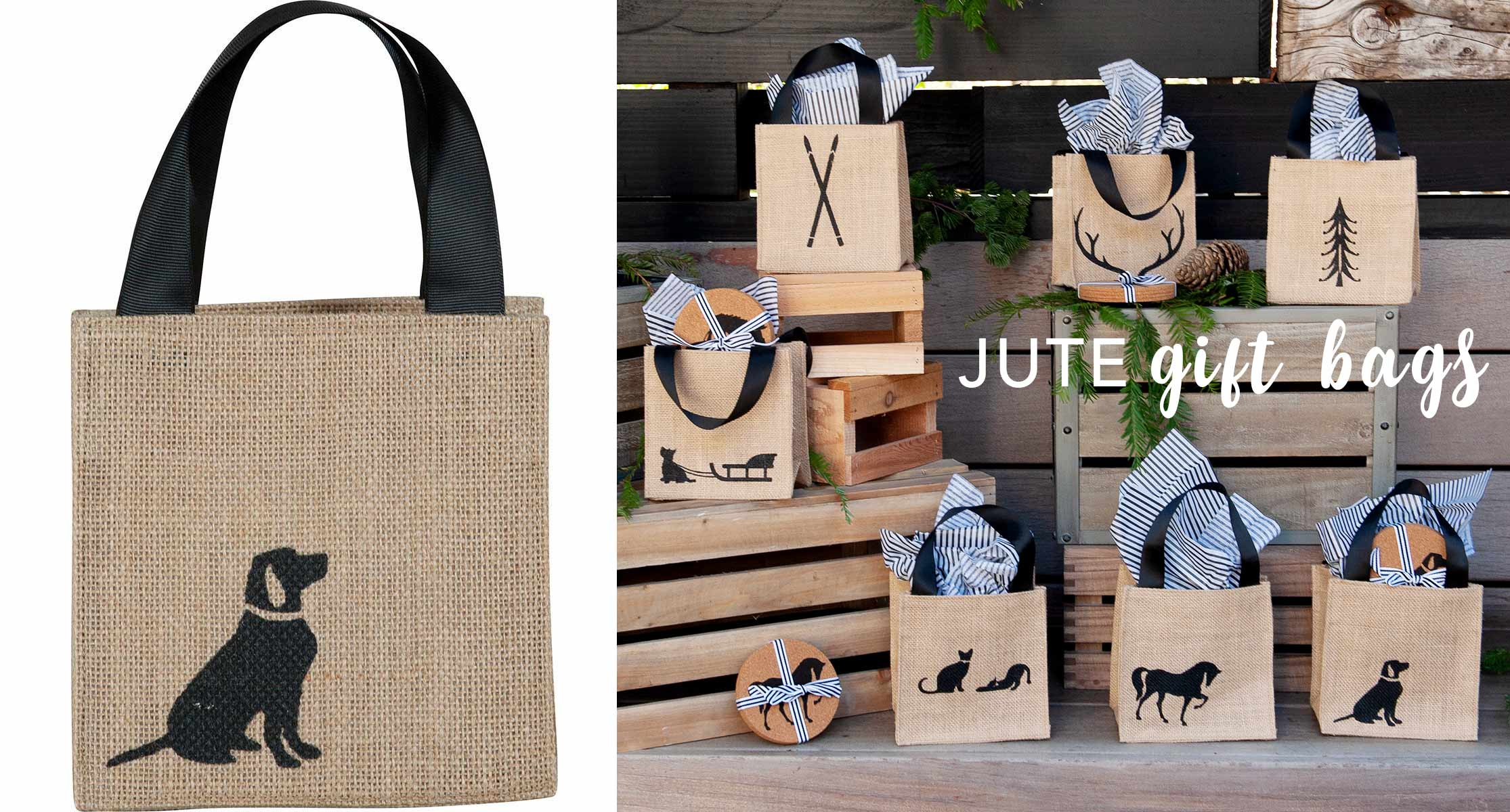 jute gift bags itsy bitsy totes