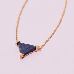 Dreieckige Lapizlazuli Edelsteinkette