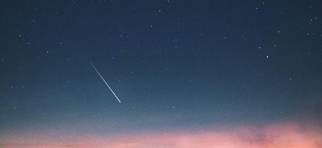 Sternenhimmel Sternschnuppe