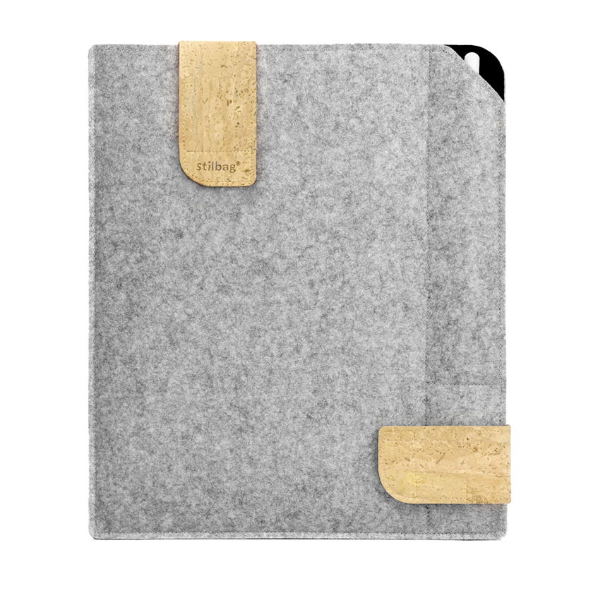 stilbag case for reMarkable made of felt | light gray - black