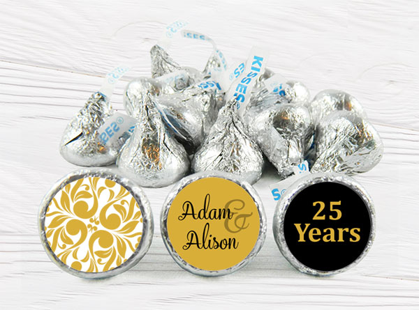 Wedding Anniversary Kiss Stickers