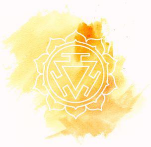 Gelbes Solarplexuschakra Manipura
