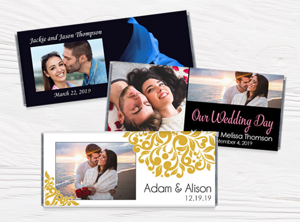 Photo Wedding Candy Bar Wrappers