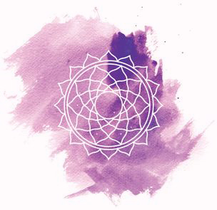 Violettes Kronenchakra Sahasrara