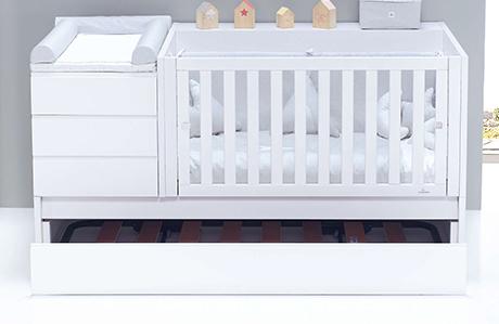 Cuna convertible 70x140 Sero Life K537 con cama nido inferior