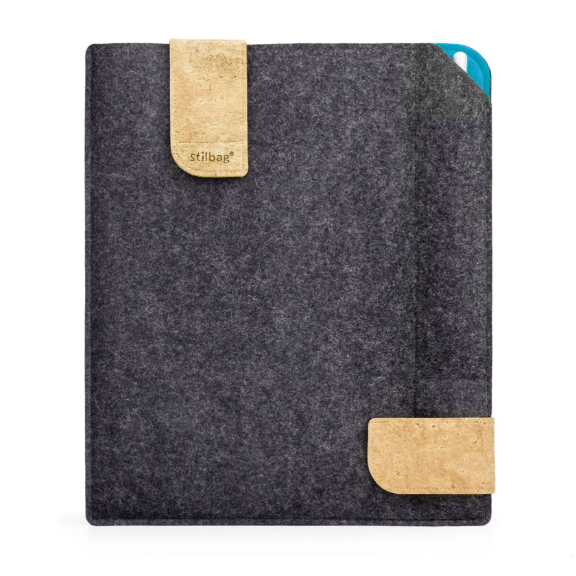 stilbag case for reMarkable made of felt | anthracite - azure