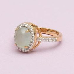 Goldenes Aquamarin Ring