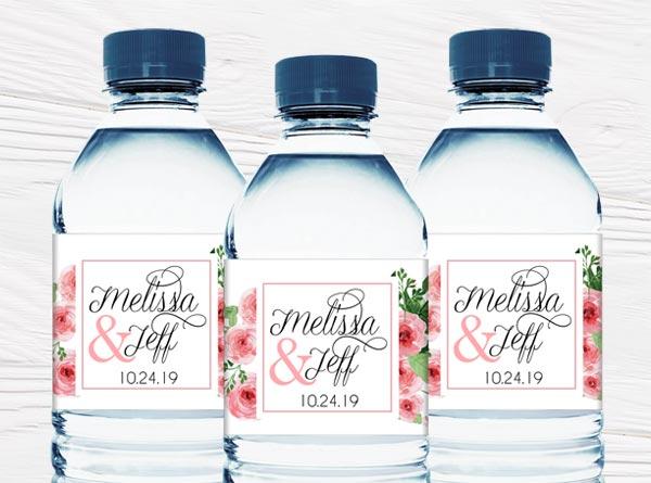 Wedding Mini Water Bottle Labels