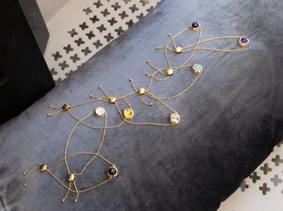Sieben Chakra Armbänder mit Edelsteinen