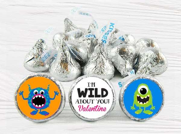 Valentine's Day Hershey Kiss Stickers