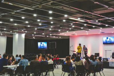 modern conference venue presentation corporate